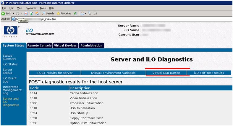 Forcing a Blue Screen via iLO – Brian Desmond's Blog