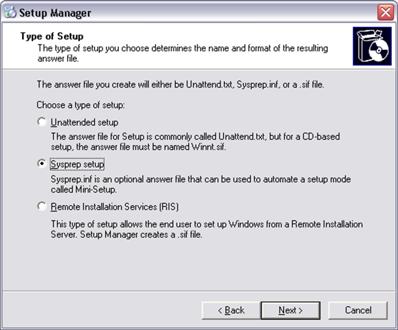 How to Build a Sysprep Answer File: Windows XP and 2003