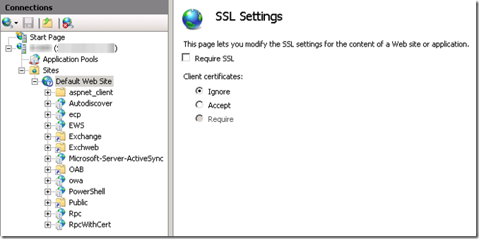Redirecting OWA URLs in Exchange 2010